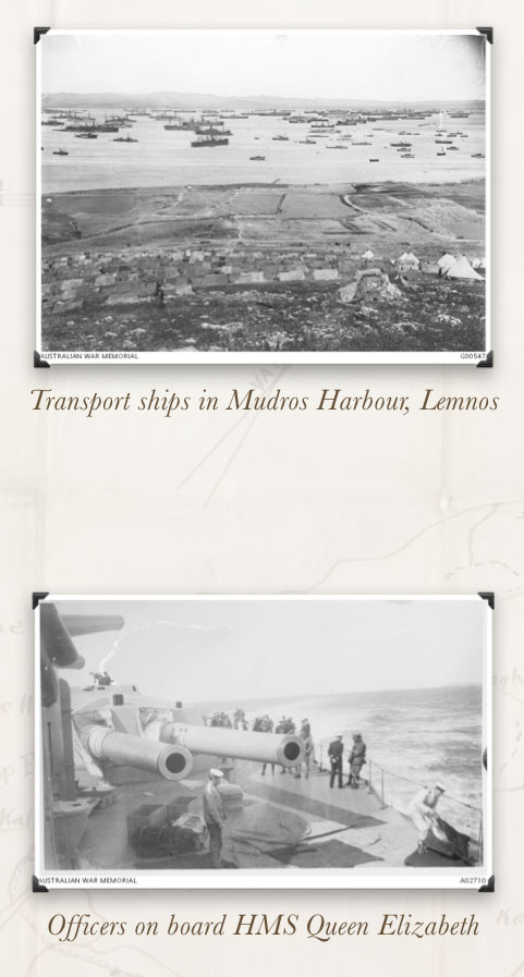 Ships in Lemnos Harbour